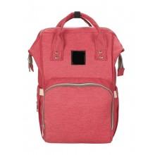 Сумка-рюкзак для мамы  B-0193-3 красный.
