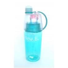 Спортивная бутылка для воды с распылителем NEW.B  400мл.   0777 голубой