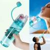 Спортивная бутылка для воды с распылителем NEW.B 400мл   0777-2 зеленый