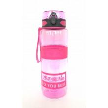 Спортивная бутылка для воды 1000мл  0779 розовая