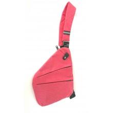 Сумка-кобура тёмно-розовая