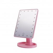 Косметическое зеркало с подсветкой Large Led Mirror  XR-1608 розовое