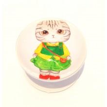 Складная подставка держатель для телефона 3D Кошечка в платье