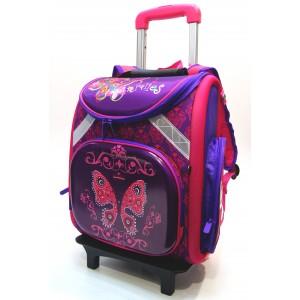 Рюкзак ранец школьный на колесах 1733-2
