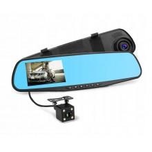 """Зеркало-видеорегистратор с камерой заднего вида Vehicle Blackbox DVR 3.6"""" 4v-3"""
