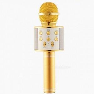 Беспроводной Bluetooth караоке микрофон WS-858 желтый