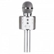 Беспроводной Bluetooth караоке микрофон WS-858 серебристый