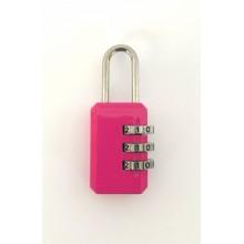 Кодовый замок на чемодан 9001-2 розовый