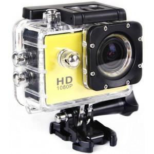 Экшн-камера Sport Cam Full HD 1080p Водонепроницаемая Желтая