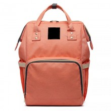 Сумка-рюкзак для мамы B-0193-4 персиковый.