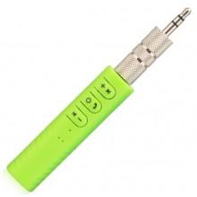 AUX адаптер Hands free  Bluetooth приемник для наушников BT-3 Зеленый