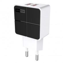 Зарядное устройство Awei C-500 2x USB 2.4A Черный