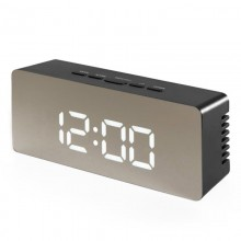 Электронные LED часы настольные с термометром 1909 черные