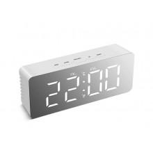 Электронные LED часы настольные с термометром 1909 белые