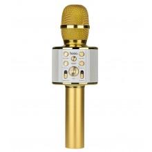 Беспроводной Bluetooth караоке микрофон Hoco BK3 Золотой