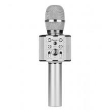 Беспроводной Bluetooth караоке микрофон Hoco BK3 Серебряный