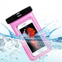 Водонепроницаемый чехол для телефона и документов Hoco Airbag Розовый