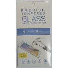 Защитное стекло 2D для Huawei Honor 8 с белой рамкой