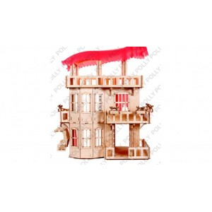 Конструктор деревянный Кукольный домик Polly 100 см.