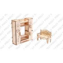 Конструктор деревянный «Гостиная» ДК-2-07