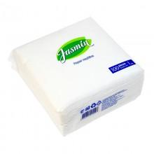 Салфетки бумажные Jasmin однослойные (33 х 33см) 100шт Белые