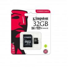 Карта памяти Kingston microSDHC Сlass 10 32GB (с адаптером SD)