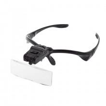 Лупа налобная 3.5x с LED фонарем (очки) 9892B