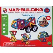 Магнитный 3D-конструктор MAG BUILDING (мэг билдинг) , 36 деталей.  99027