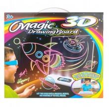 Магическая 3D доска для рисования Magic drawing board 3D, космос