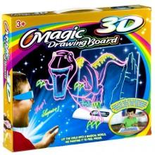 Магическая 3D доска для рисования Magic drawing board 3D, динозавры