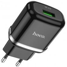 Сетевое зарядное устройство Hoco N3 Quick Charge 3.0 USB 3А Черный