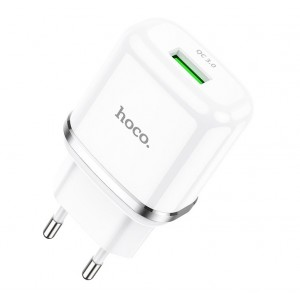 Сетевое зарядное устройство Hoco N3 Quick Charge 3.0 USB 3А Белый