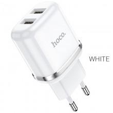 Сетевое зарядное устройство Hoco N4 2xUSB 2.4A Белый