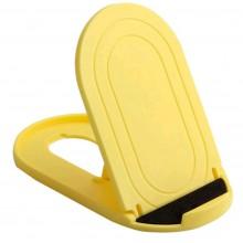 Портативная настольная подставка для смартфона желтая