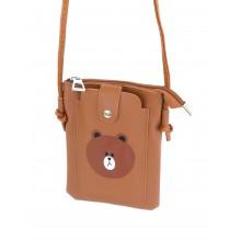 Сумка-кошелек PL603-3 коричневая