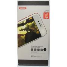 Защитное стекло 3D для iPhone 6/6s с черной рамкой