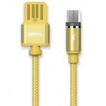 Кабель магнитный USB -microUSB Remax Gravity Magnet Cable RC-095m Gold
