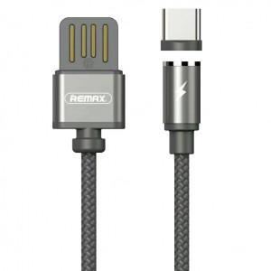 Кабель магнитный USB - Type-C Remax Gravity Magnet Cable RC-095a Grey