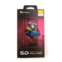 Защитное стекло 5D для Xiaomi Redmi 5 с белой рамкой Zifriend