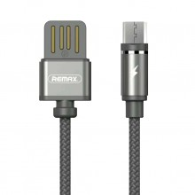 Кабель магнитный USB -microUSB Remax Gravity Magnet Cable RC-095m Grey