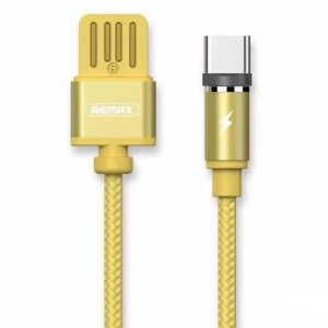 Кабель магнитный USB - Type-C Remax Gravity Magnet Cable RC-095a Gold