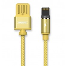 Кабель магнитный USB для iPhone Remax Gravity Magnet Cable RC-095i Gold