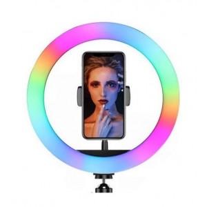 Кольцевая цветная RGB лампа 26см  для съемки