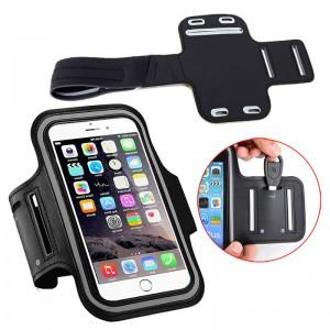 Чехол для телефона на руку для бега 15.5х8  RL1 черный