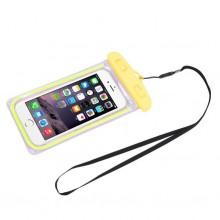 Водонепроницаемый чехол для телефона и документов RN-6 желтый