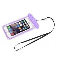 Водонепроницаемый чехол для телефона и документов RN-8 фиолетовый