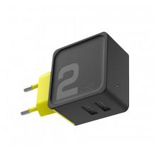 Зарядное устройство Rock  RWC0239   2x USB 2.4A Черный