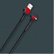 Кабель-подставка для iPhone Lightning XS-008 Черный