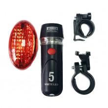 Велосипедные фонари передний и задний YT-M09-1
