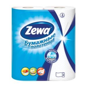 Бумажные полотенца Zewa 2-х слойные ( 2 рулона в упаковке)